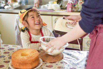 家庭科 ケーキ作り 親子 料理