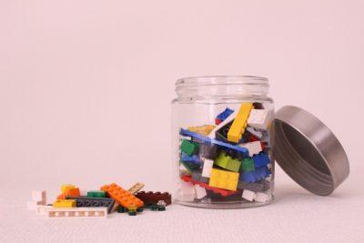 子供 外 遊び おもちゃ 収納 ブロック 瓶