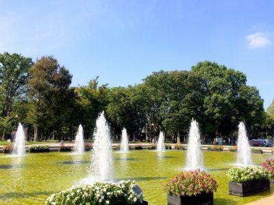 水遊び 噴水 広場
