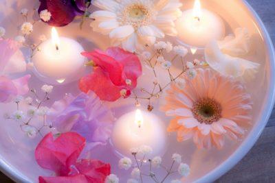広島 川遊び キャンドル 花