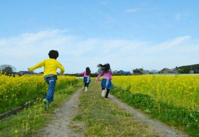 白馬 川遊び 子供 かけっこ 小学生