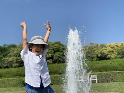 文京区 水遊び場 噴水 男の子