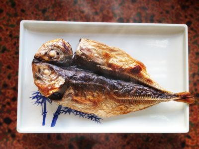 焼き魚 アジの開き