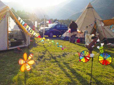 川遊び キャンプ テント 宿泊