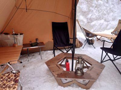 キャンプ 関西 雪山