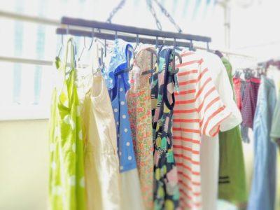 キャンプ 子供服 収納 洗濯物